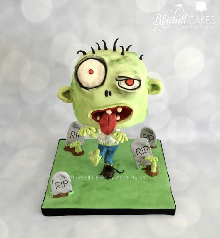 Halloween treats , Zombie cake