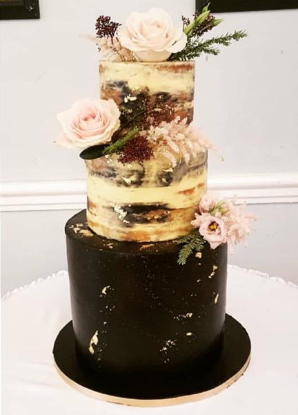 Semi Naked Wedding Cake Example