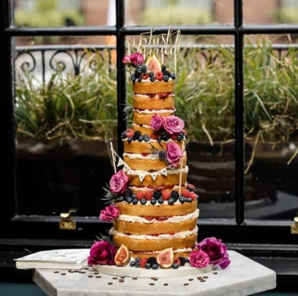 Fresh and Colourful Naked Wedding Cake