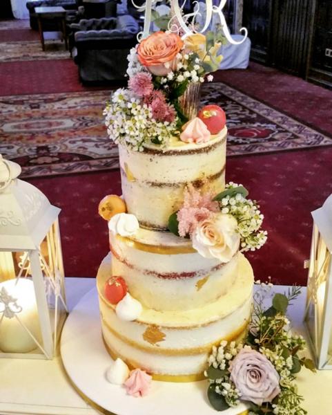Zesty Lemon Naked Wedding Cake