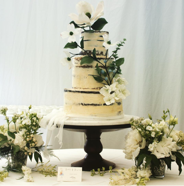 Semi Naked Wedding Cake Idea
