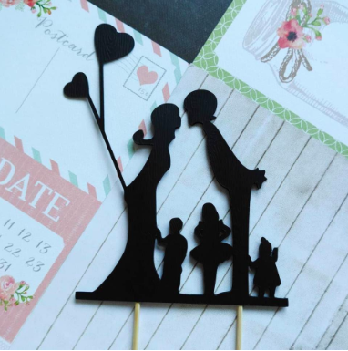personalised paper wedding cake topper