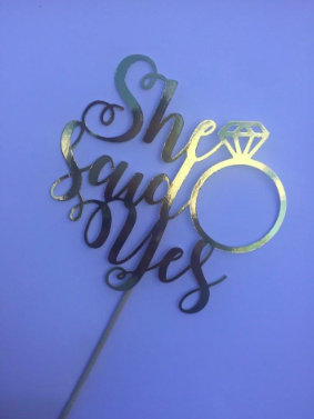 simple wedding cake topper example