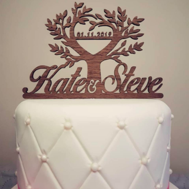 tree of life wedding cake topper example