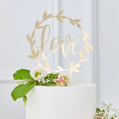 endless love wedding cake topper example