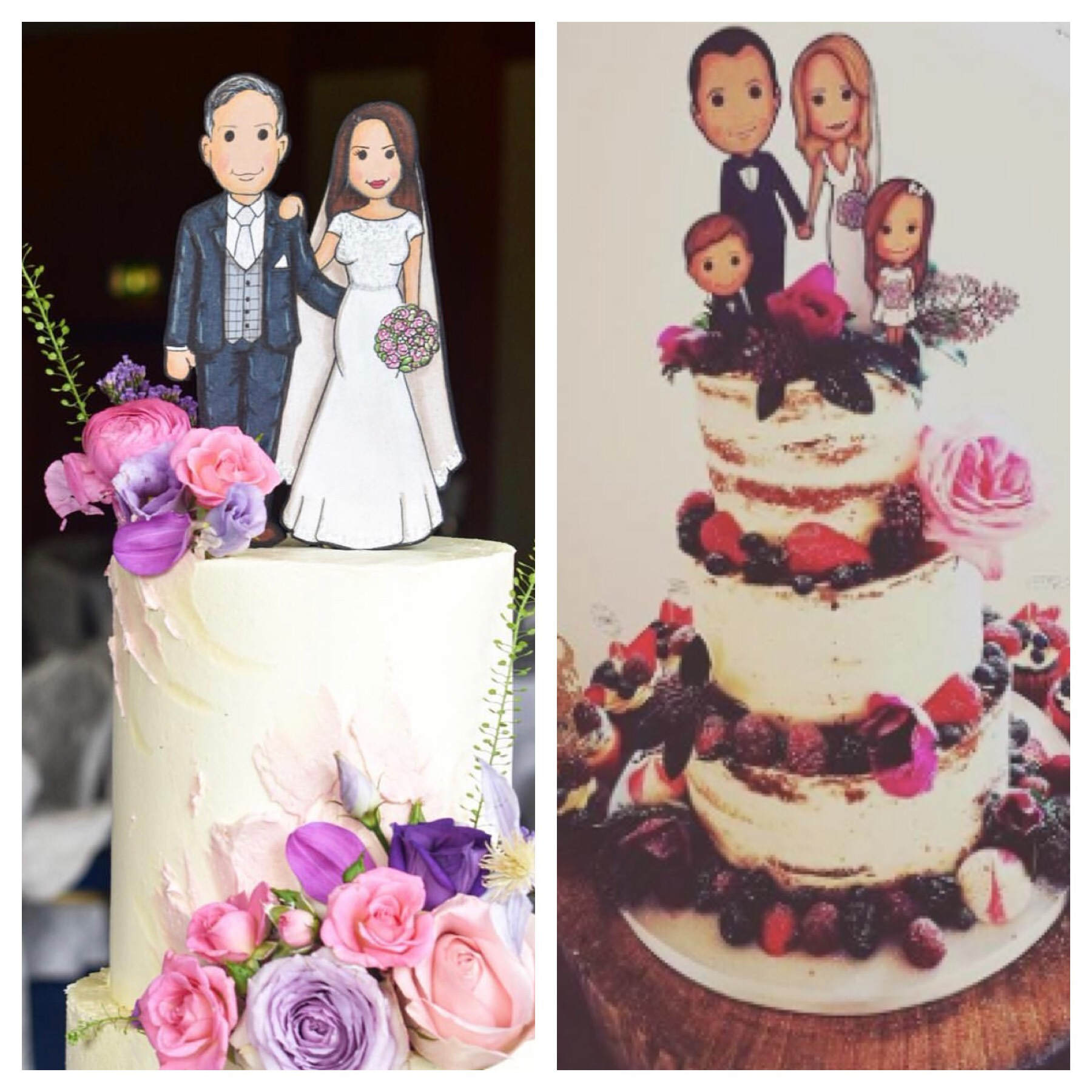 illustration Wedding Cake toppers