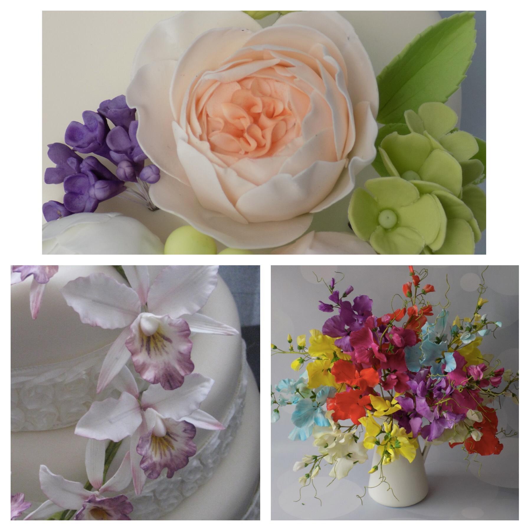 fresh cut flowers Wedding Cake toppers