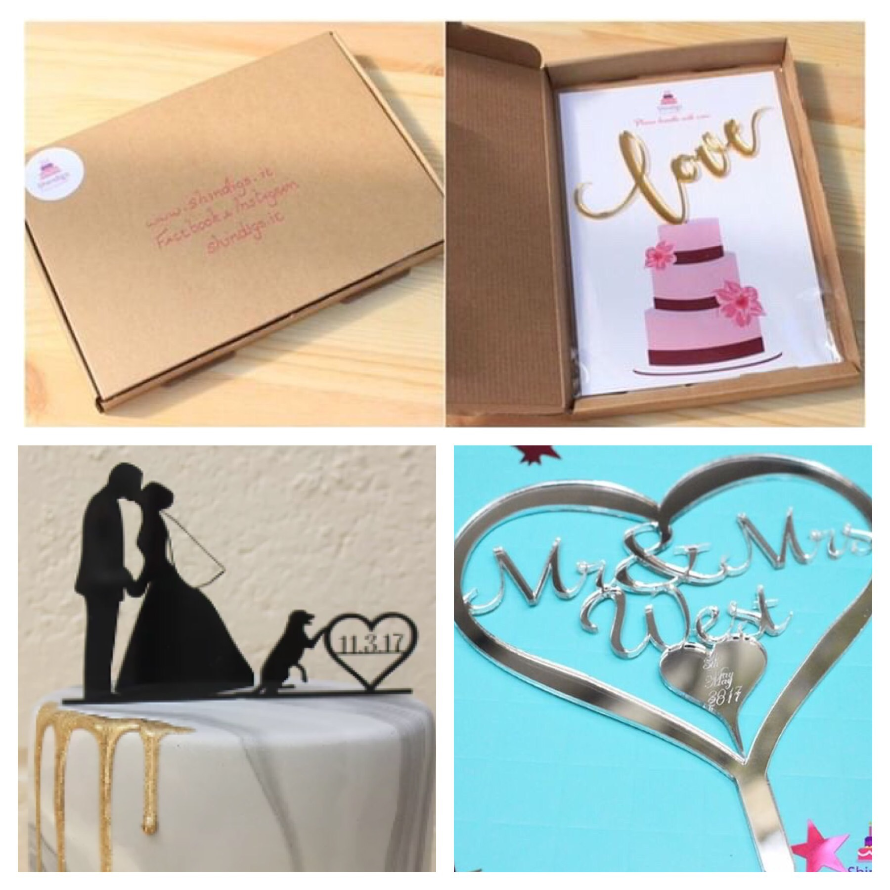 made to order Wedding Cake toppers