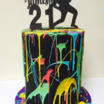 Rock Themed 21st Birthday Cake