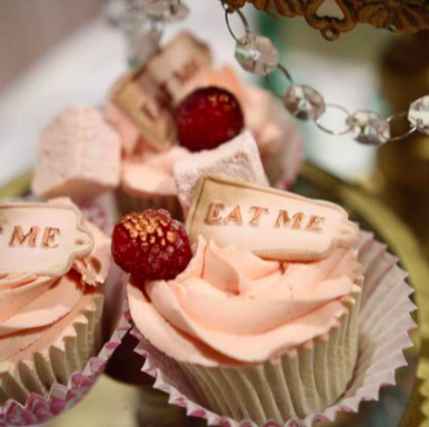 Alice in Wonderland Cupcakes Created For Weddings
