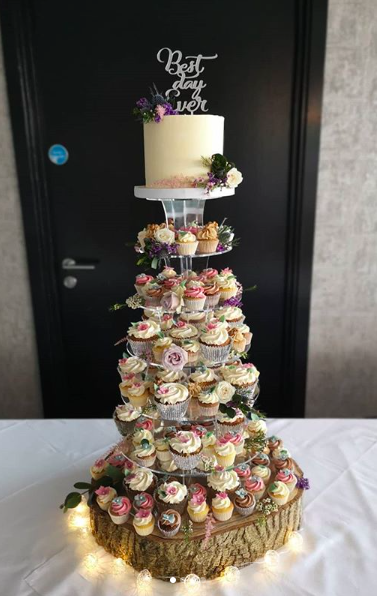 Rustic Wedding Cupcake Tower