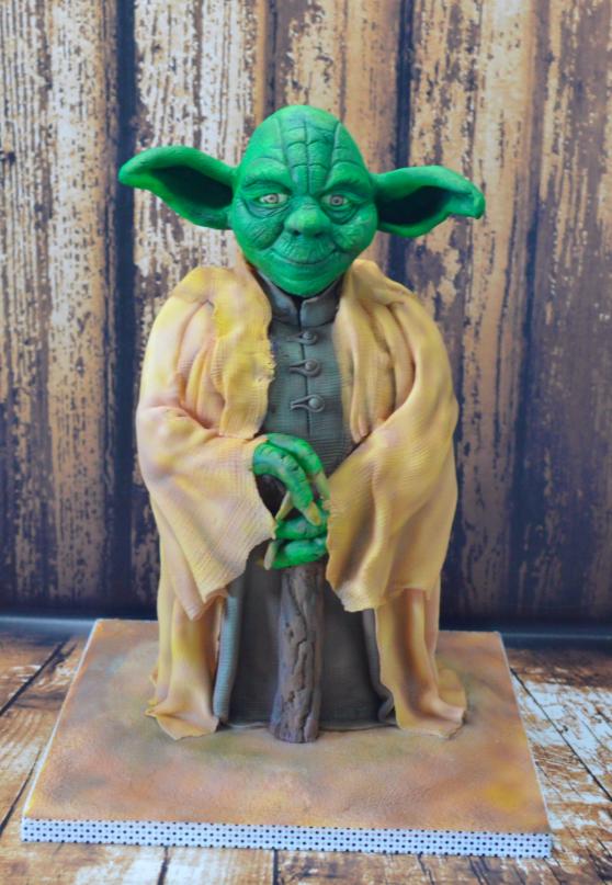 Star Wars Themed Yoda Novelty Birthday Cake