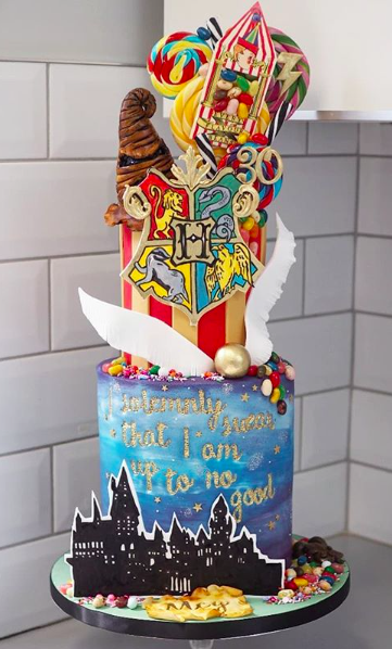 Harry Potter Themed 30th Birthday Cake