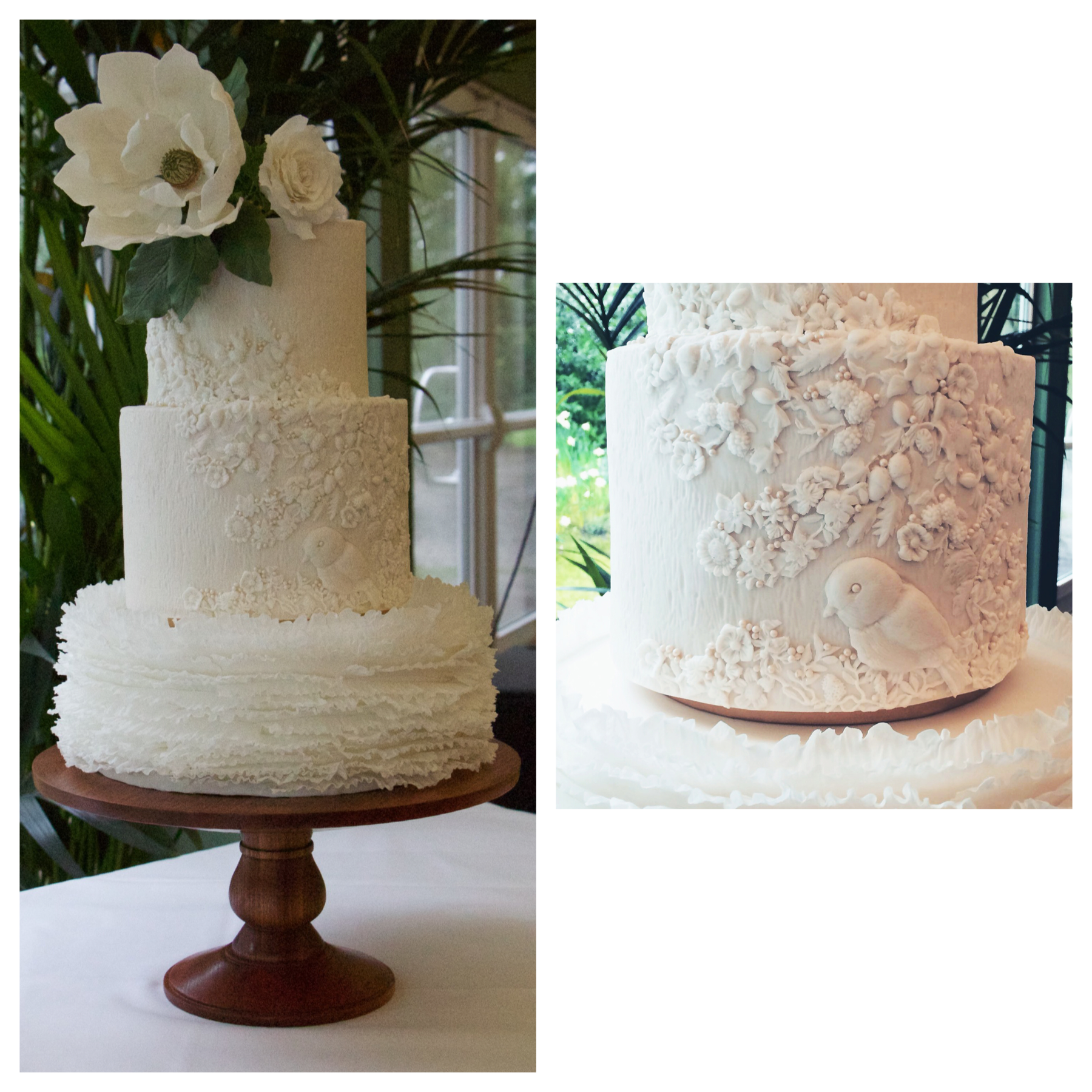 Relief Work Wedding Cake Trend