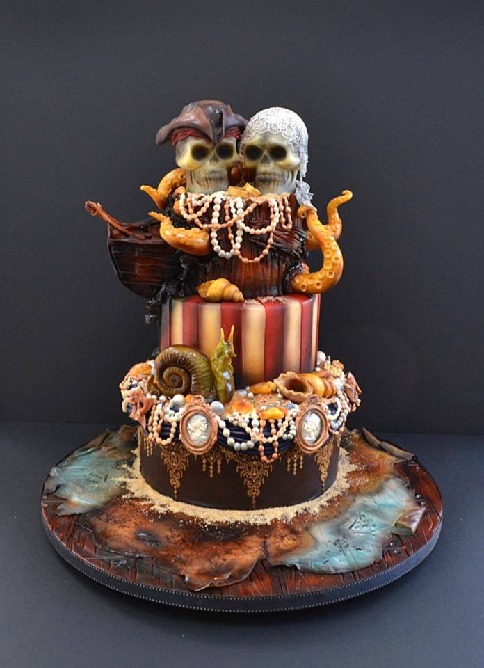 Alternative Wedding Cakes - Pirate Themed